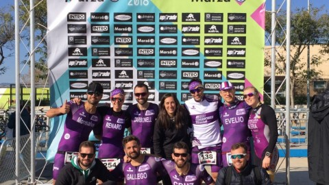 Amb les noves equipacions al Campionat Autonòmic de duatlò sprint a Onda